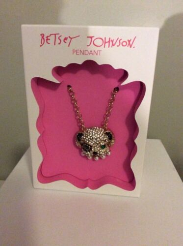 $35 Betsey Johnson 2015 Holiday  Gift Collection Dog Necklace Pet Shop Dog