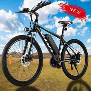 """350W&26"""" Electric Bike Mountain Bicycle Commuter Ebike Shimano 36V+10.4Ah Bikes"""
