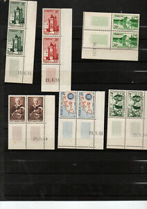 Colonies-6-blocs-de-2-Maroc-coins-dates-avant-independance