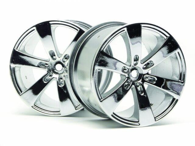 HPI 3013 Q6 Chrome Wheels 83x56mm - 14mm Hex - For Savage 25 X XL Flux SS Etc