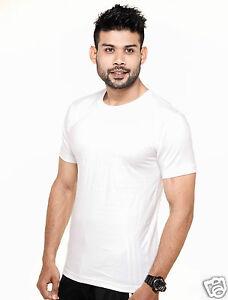 Plain Round Neck T-Shirt White Color - 100% Cotton