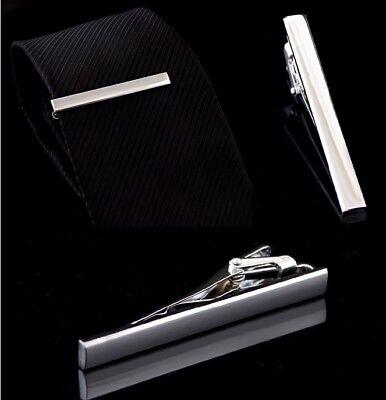 Caballero Corbata De Metal Estilo sencillo Tie Bar Broche Pin Clip práctico 6cm Reino Unido