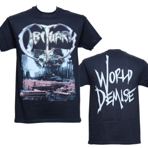 OBITUARY New S M L XL Official Licensed T-Shirt WORLD DEMISE