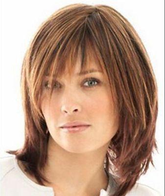 Hot sales Fashion Quiet Brown Hair Short Women's lady's Wig +free wig cap