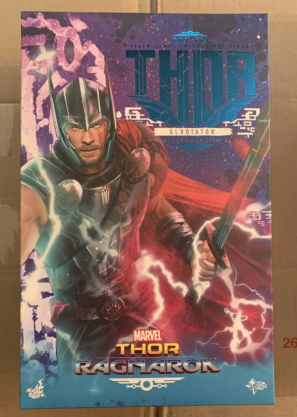 Hot Toys MMS 445 Thor Ragnarok Gladiator Thor Deluxe Version 1/6 Scale NEW on eBay thumbnail