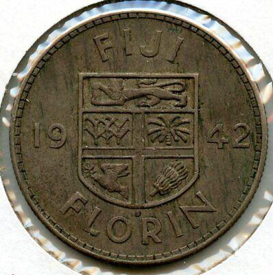 1942 One Penny. WW11   UNC Fiji P-47a