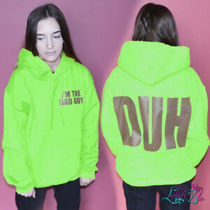 Erwachsenen Den Bosewicht Neon Hoodie Billie Eilish Hoodie Inspiriert Wow Bad Unisex Ebay