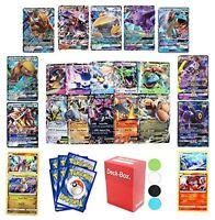 6 Pokemon Cards - Gx Guaranteed - Plus Deck Box & Random Bonus