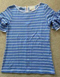 Sail to Sable Women's Nautical Striped Puff/Ruffle Sleeve Top - Size XS NWOT