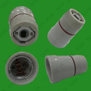 1x-Edison-Tornillo-E27-es-ceramica-glaseada-socket-titular-de-Lampara-Bombilla-Rosca-M10