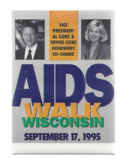 09-17-1995 AL GORE WISCONSIN AIDS WALK CAUSE PICTURE BUTTON