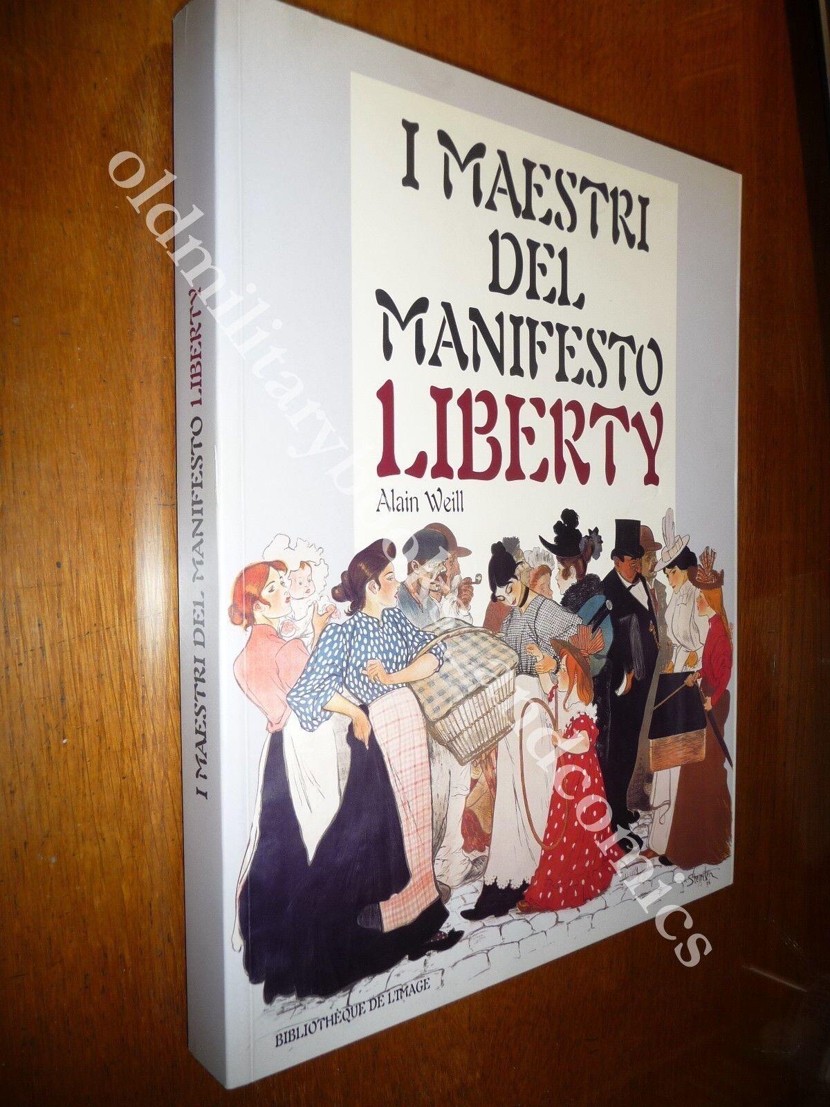I MAESTRI DEL MANIFESTO LIBERTY ALAIN WEILL MODA CIBI BEVANDE PUBBLICITA GRAFICA