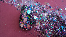 glitter mix acrylic gel nail art   HOLOGRAM