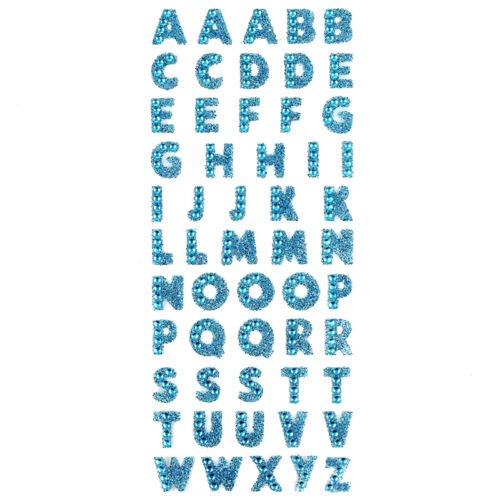 Charm Glitter Crystal 26Alphabet Letter Sticker Self Adhesive DIY A-Z Word Decor