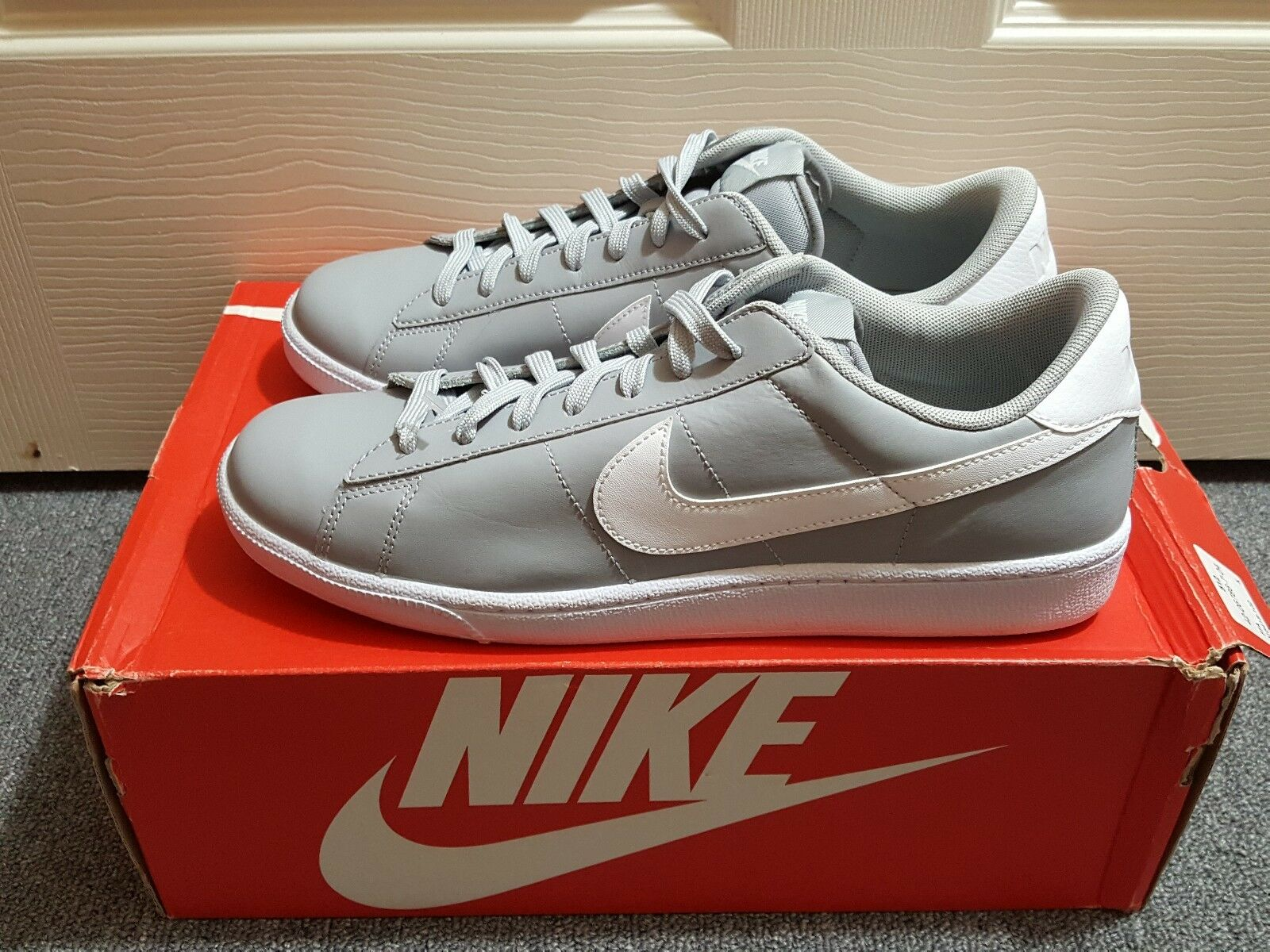lowest price 609a5 bd7be New Nike Nike Nike Tennis Classic CS Mens Trainers Wolf Grey White Sz 9  (683613