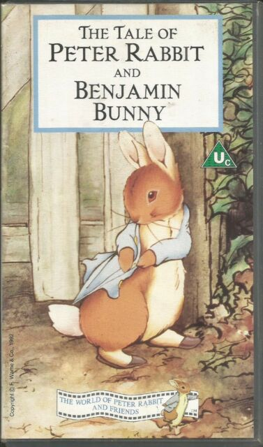 BEATRIX POTTER ~ TALE OF PETER RABBIT & BENJAMIN BUNNY ~ PAL REGION VHS 99p