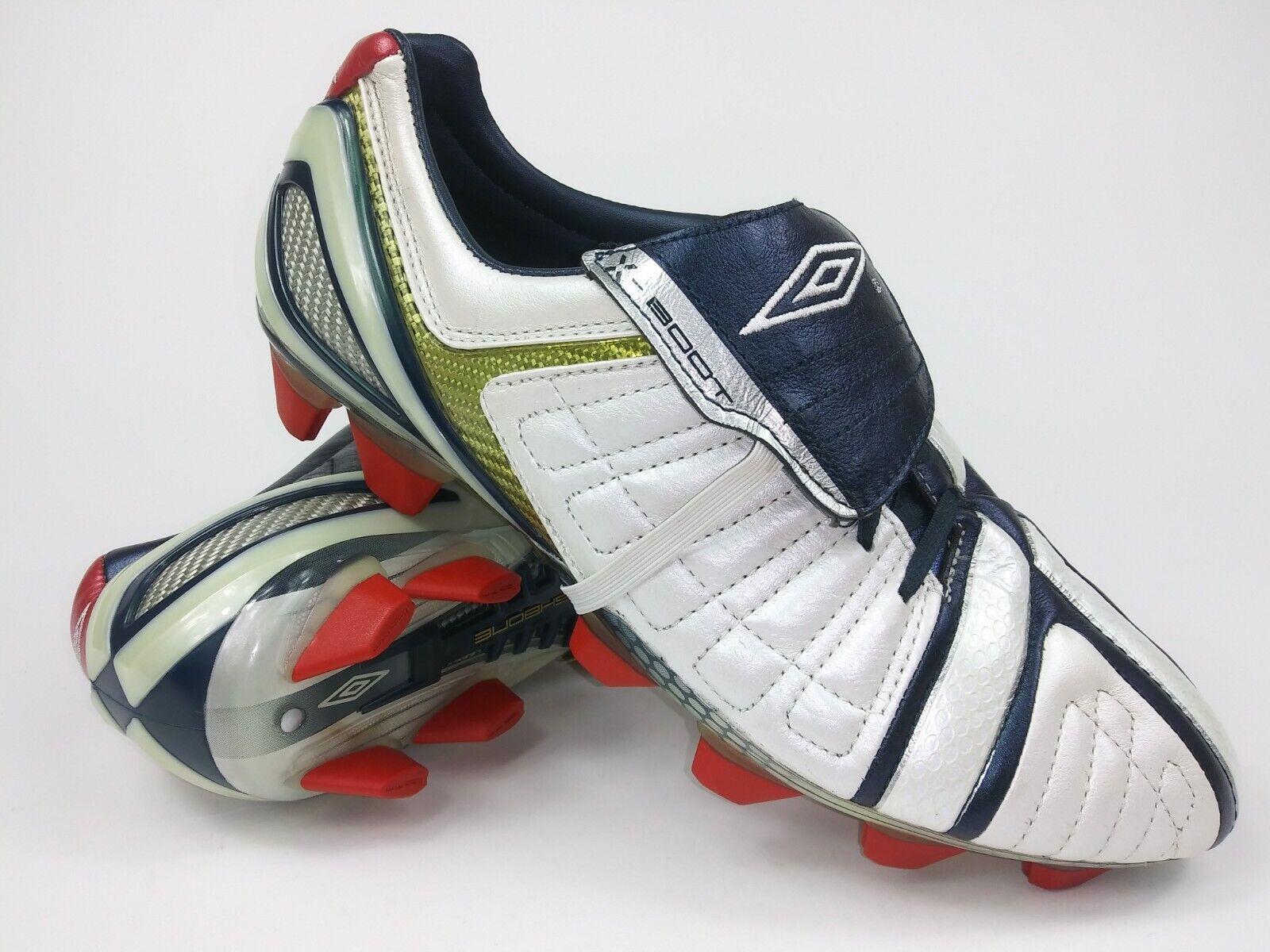 Umbro Mens Rare X avvio ll  A KTK Leather FG 8861943W9 blu bianca Soccer Cleats
