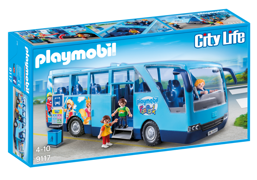 Playmobil 9117 City Life School Bus Coach Fun Park