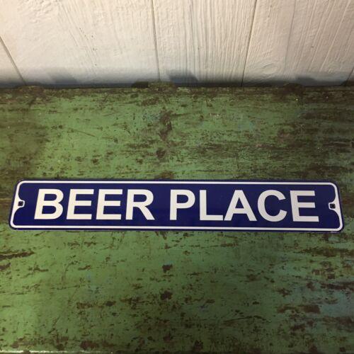 """Metal Street Sign Beer Place Garage Man Cave Bar Decor 3/""""x18/"""""""