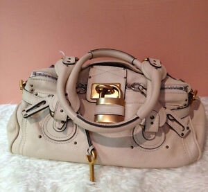 chloe fake - Auth Chloe Chlo�� Paddington Ivory Creamy White with Gold Lock ...