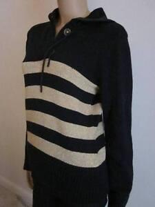 Jeans Pull Lauren Avec Label Sweatshirt M Nouveau Navy C7anqHv