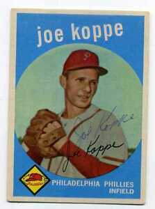 JOE-KOPPE-Signed-1959-Topps-517-High-RC-Phillies-D-039-2006-PSA-Guarantee