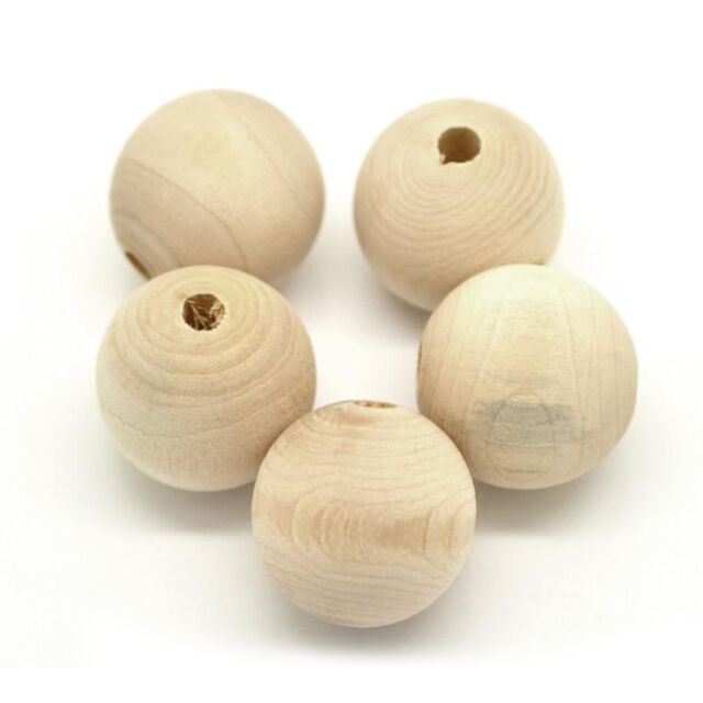 Hot 100PCS 18mm Round Wood Bead Rondelle Spacer Wooden Bead Natural Wood BeadG t