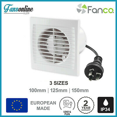 S Series Wall Exhaust Fan W Lead And