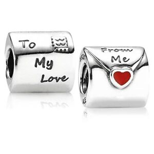 New-Authentic-Pandora-Charm-Love-Letter-790894EN09-Bead-Box-Included