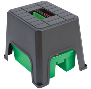 Sit Step Amp Store Kitchen Garden Plastic Stool Storage Box Caddy Carry Handle Ebay