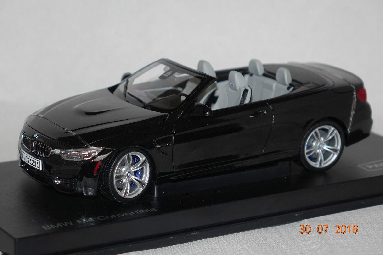 BMW m4 Cabrio  f83  2015 Sapphire Nero 1:18 Paragon NUOVO & OVP 97112