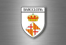 Autocollant sticker voiture blason ville drapeau espagne barcelone barcelona