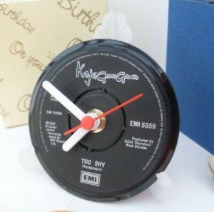 new-KAJAGOOGOO-VINYL-RECORD-SINGLE-CLOCK-actual-RECORD-CENTRE-DESK-TABLE
