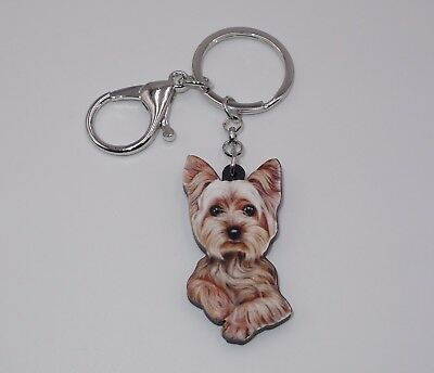 Hund Yorkshire Terrier Liebe Herzen Pfote NEU S256 Schlüsselanhänger