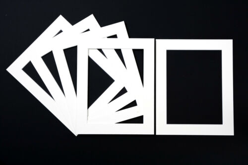 Black or Cream White Bevel Cut Photo Mounts