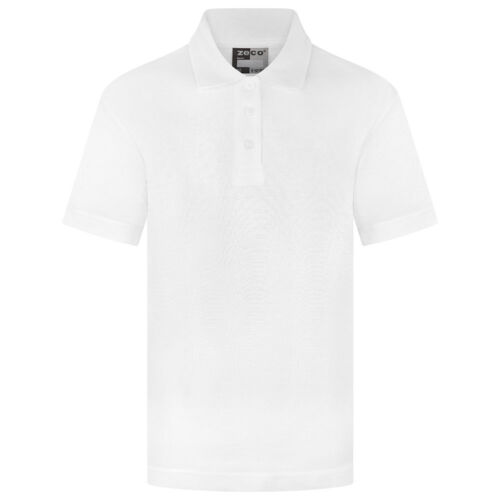 Filles Froncé Col Polo Shirt T-shirt Uniforme Scolaire repassage facile FT3091