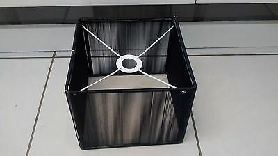 LARGE BLACK SHADE STRING CEILING LAMP LIGHT LIGHTSHADE LAMPSHADE MODERN CHIC