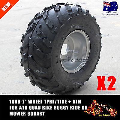 2 X 16x8-7 Front Rear Tubeless Tire 50cc 125cc Taotao Quad ATV Go-Kart Pit Bike