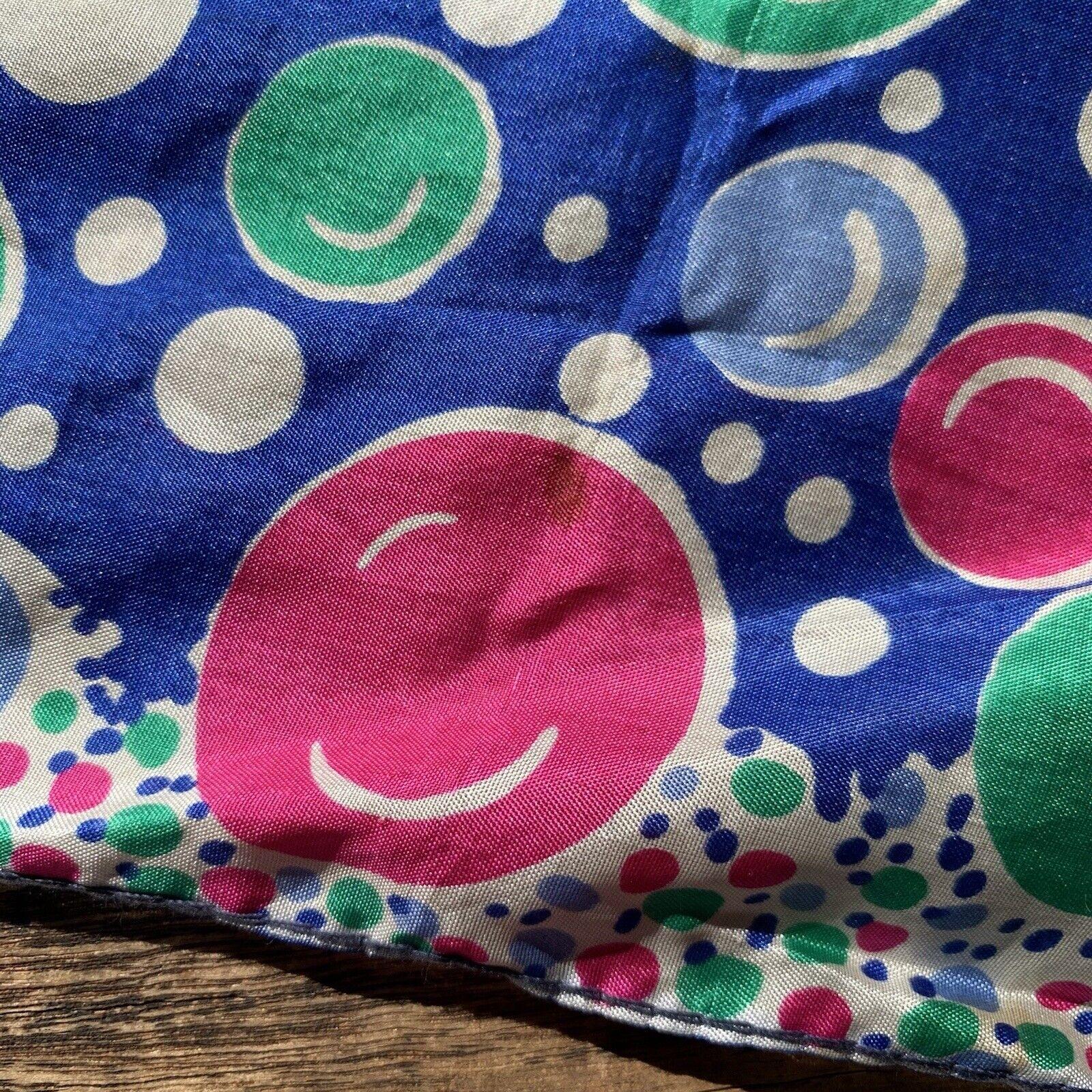 Vintage 60s Pop Art Bubbles Neck Scarf - image 3