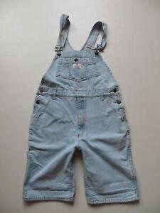 Levi-039-s-Latzhose-kurze-Latz-Jeans-Hose-Gr-S-W-27-28-vintage-Shorts-OVERALL