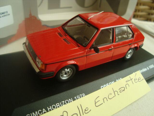 miniature Simca horizon 1978  Odeon 1/43 neuve série limitée en boite vitrine