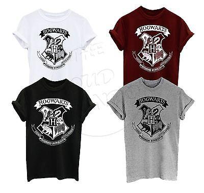 Harry Potter Hogwarts Crest Logo Fan Fashion Unisex Adulto, Ragazzi Maglietta A-mostra Il Titolo Originale