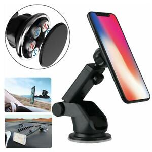 Black-Magnetic-Car-Mount-Holder-Windshield-Dashboard-Suction-Stand-For-Phone-GPS