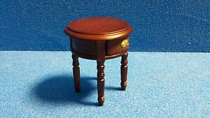 Image Is Loading 1 12 Scale Dolls House Furniture Round Side