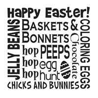 Easter Spring Stencil12x12 Happy Easter Bunnies Chicks Egg Hunt For Signs Crafts