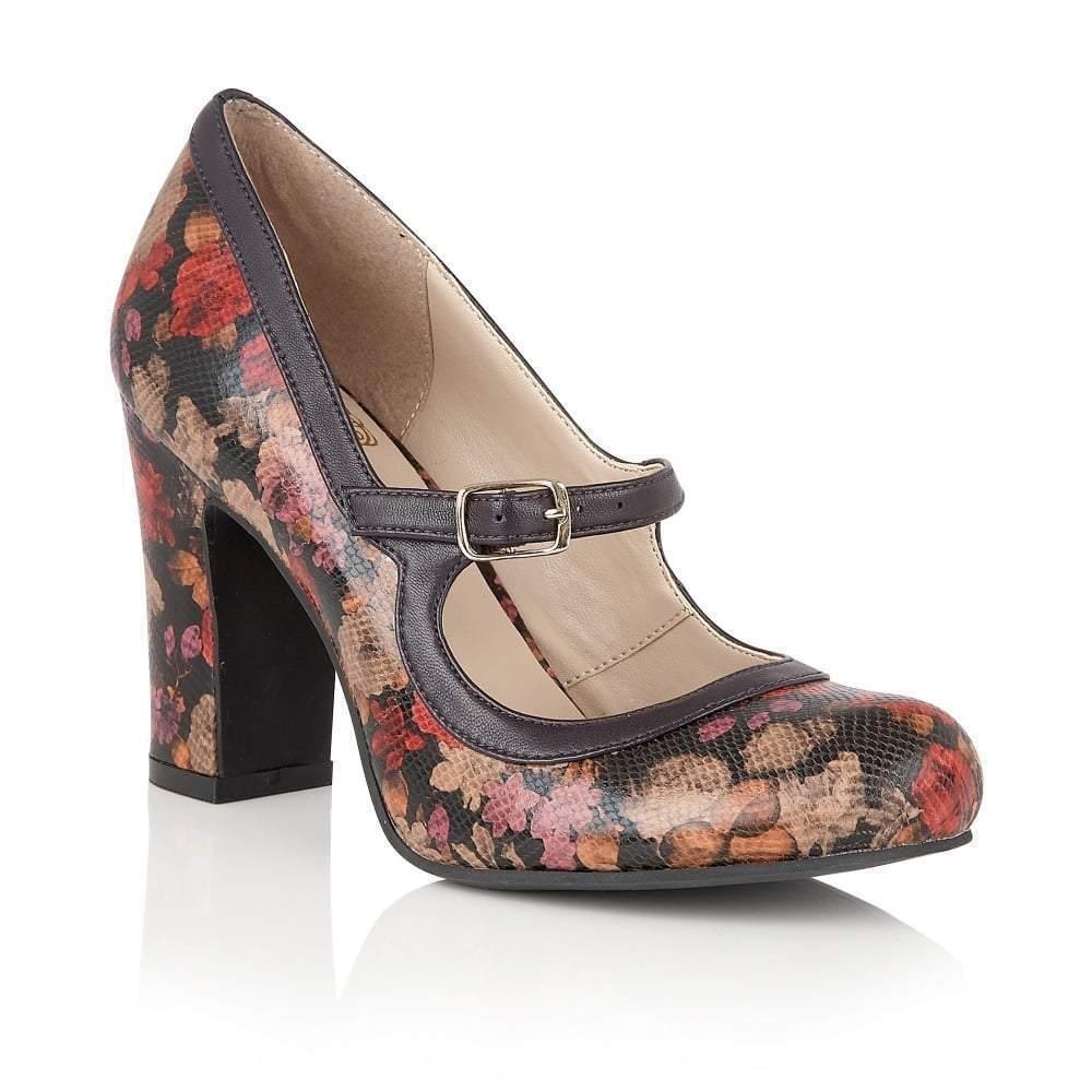 Sello de loto Jasmyn Zapatos Zapatos Zapatos de impresión flor morada  productos creativos