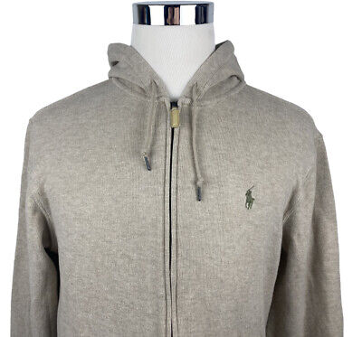Polo Ralph Lauren Mens White Long Sleeve Hoodie With