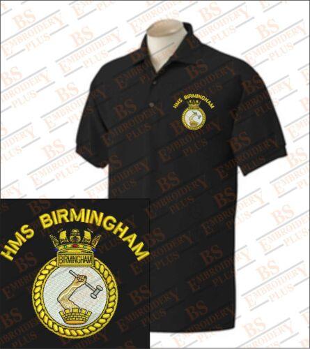 HMS BIRMINGHAM Embroidered Polo Shirts