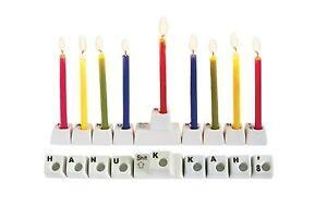 Jewish Hanukkah Keyboard Menorah Candle Holder