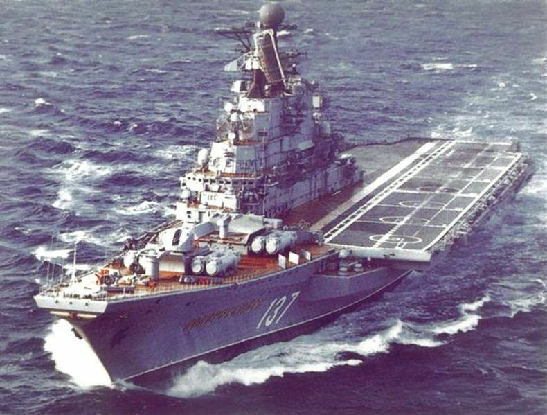 Novorossijsk, incrociatore della russa Kiev CLASSE. modello edifici